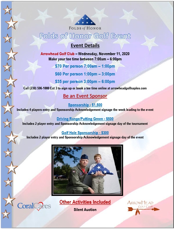 2020 FoldsofHonor Tournament Flyer Arrowhead