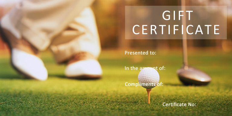 Golf Lesson Gift Certificate