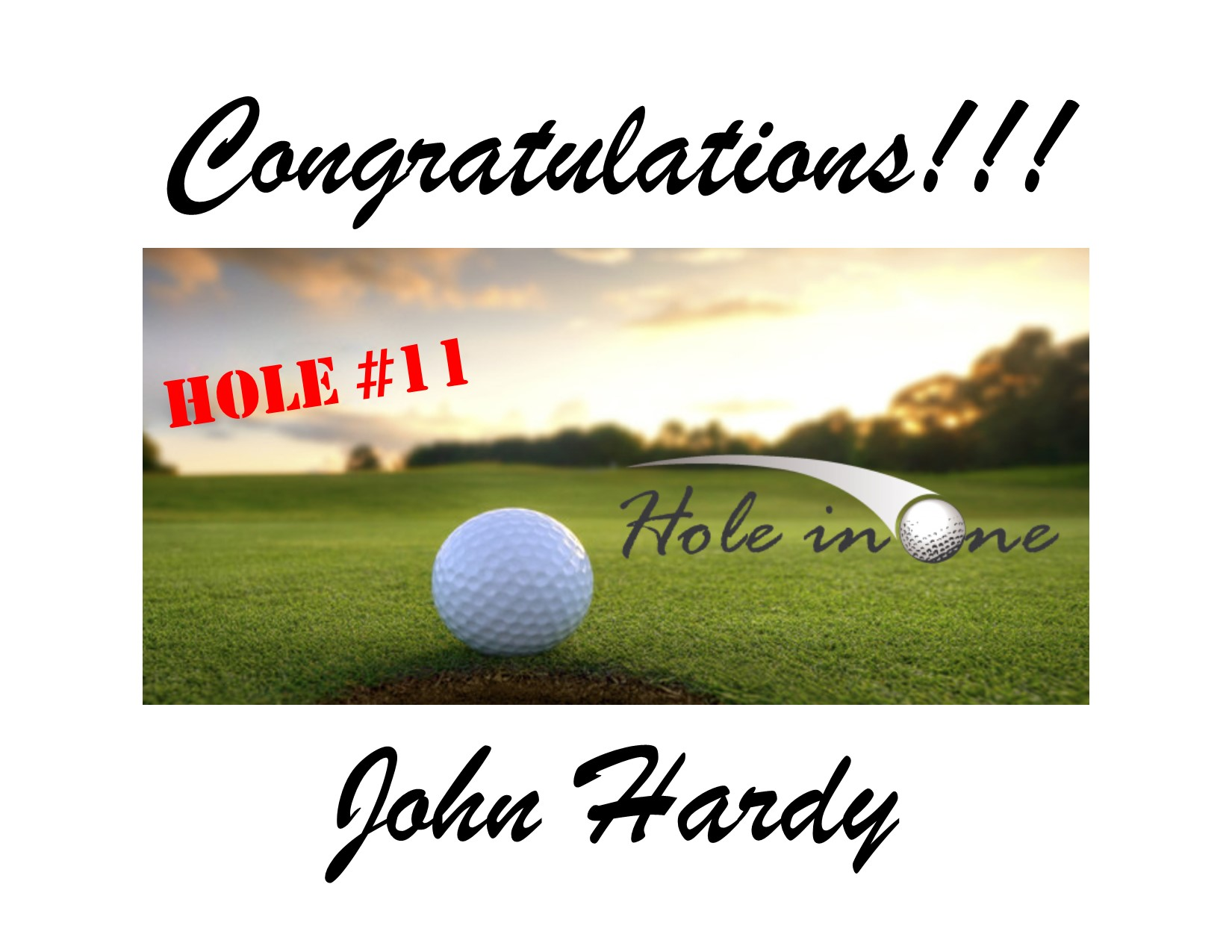 Hole in onehardy